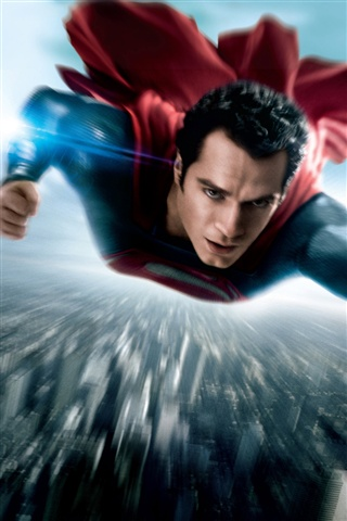 Man of Steel affiche iPhone 3GS Fonds d'écran - 320x480