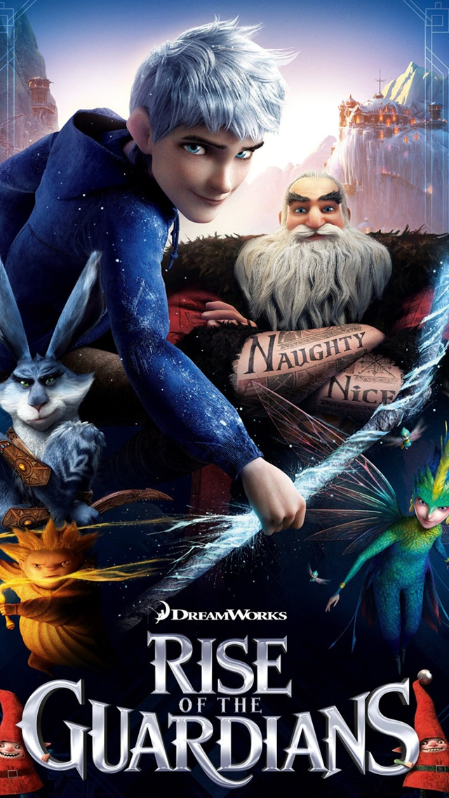 Rise of the Guardians iPhone 5 (5S) (5C) (SE) Fonds d'écran - 640x1136