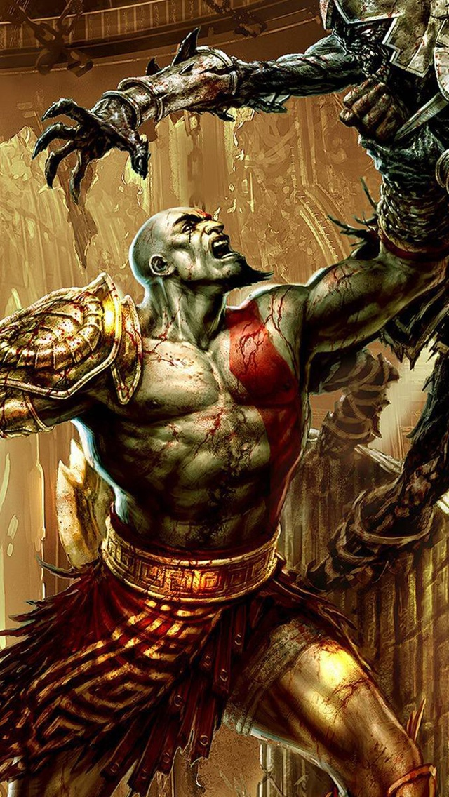God of War jeu PC 3 iPhone 5 (5S) (5C) (SE) Fonds d'écran - 640x1136