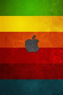 Apple à fond coloré stripes iPhone Fond d'écran Aperçu