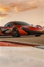 Orange McLaren P1 voiture iPhone fonds d'écran