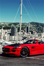 Red Mercedes SLS AMG Hamann voiture iPhone fonds d'écran