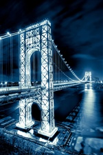 George Washington Bridge, New Jersey, Manhattan, veilleuses iPhone fonds d'écran