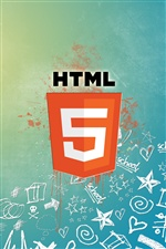 logo HTML5 iPhone fonds d'écran
