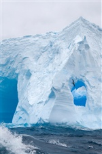 Glace immense mer antarctique iPhone fonds d'écran