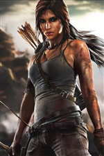 Lara Croft dans Tomb Raider jeu iPhone fonds d'écran