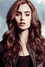 Lily Collins 03 iPhone fonds d'écran