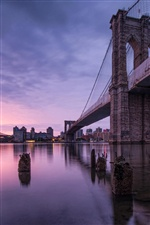 New York, Etats-Unis, le pont de Brooklyn iPhone fonds d'écran
