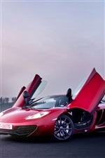McLaren MP4-12C couleur rouge supercar iPhone fonds d'écran