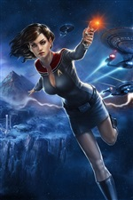 Star Trek Online, belle fille iPhone fonds d'écran