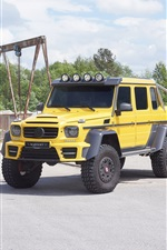 2 015 Mercedes-Benz G63 AMG 6x6 pick-up iPhone fonds d'écran