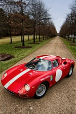 1964 Ferrari 250 LM supercar rouge iPhone fonds d'écran