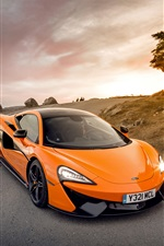 McLaren 570S d'orange supercar iPhone fonds d'écran