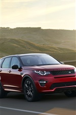 2015 Land Rover Range Rover SUV rouge iPhone fonds d'écran