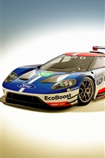 2016 voiture de course Ford GT iPhone fonds d'écran