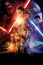 Star Wars: Le Awakens Force de 2015 film iPhone fonds d'écran