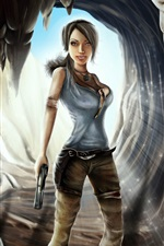Tomb Raider, Lara Croft, jeu de fille iPhone fonds d'écran